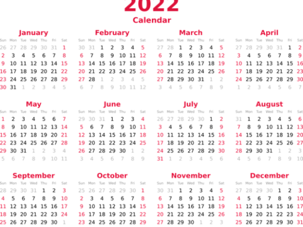 Calendar of Observances for 2021 and 2022