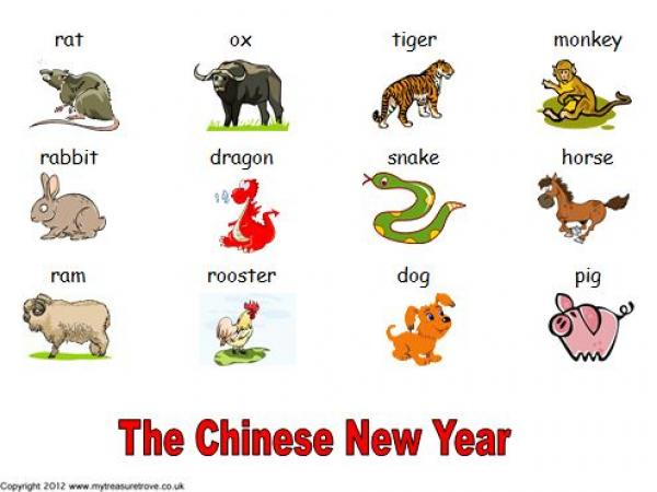 chinese new year words and pictures