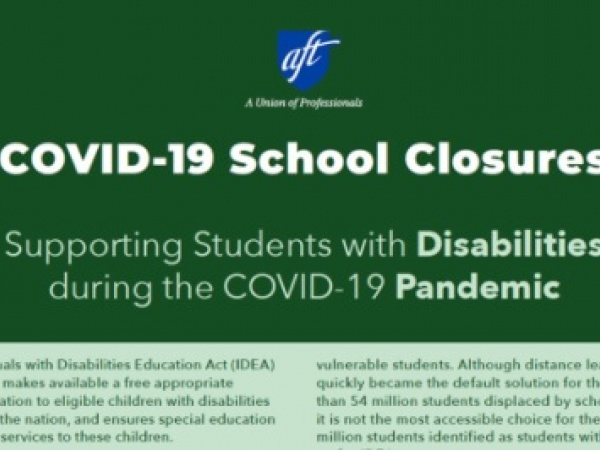 Supporting Students with Disabilities Tip Sheet During COVID-19 School Closures