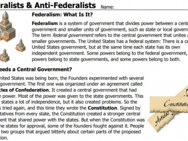 Federalism Debate Mini-Lesson