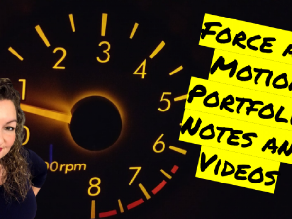 Force and Motion Unit Portfolio Guided Notes and Videos