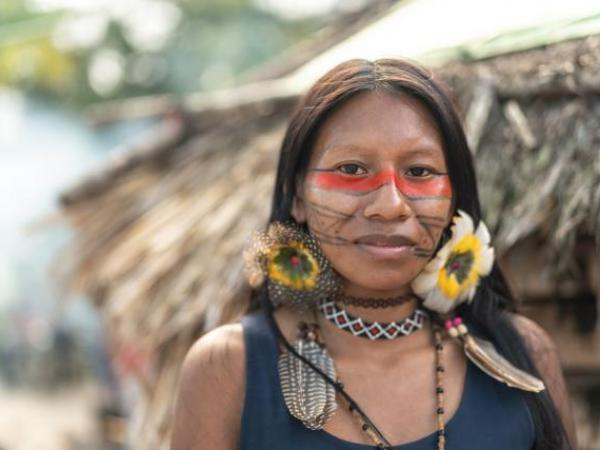 Indigenous tribes in rainforest