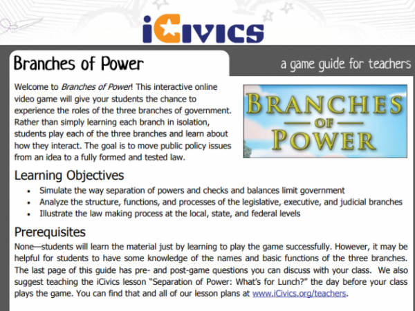 Branches of Power: Interactive Learning Game