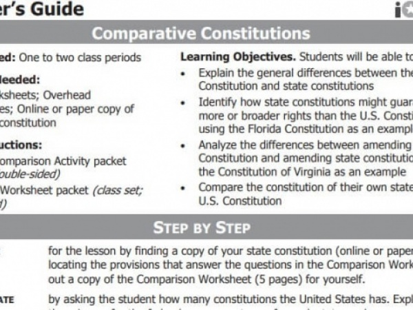 Comparative Constitutions (State v Federal)