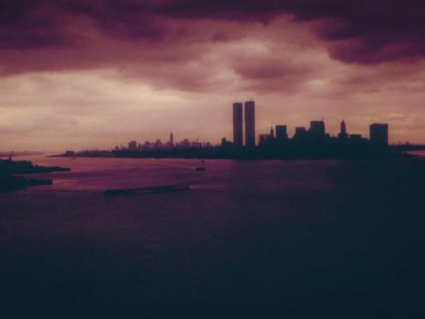 View of Manhattan before the towers fell