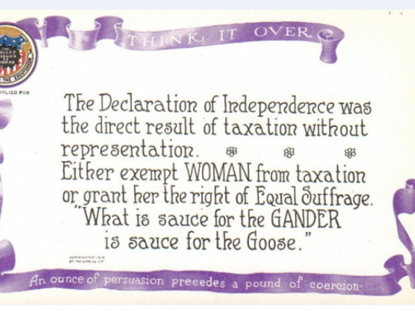 """""""Taxation Without Representation"""" Postcard"""