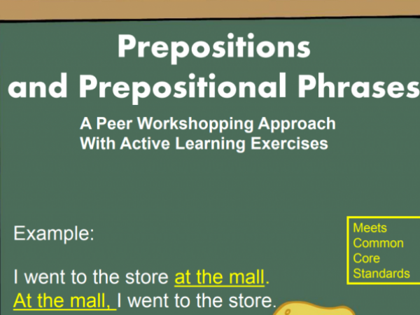 Prepositions PowerPoint (Grades 3-6)