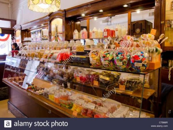 Old-Fashioned Candy Store