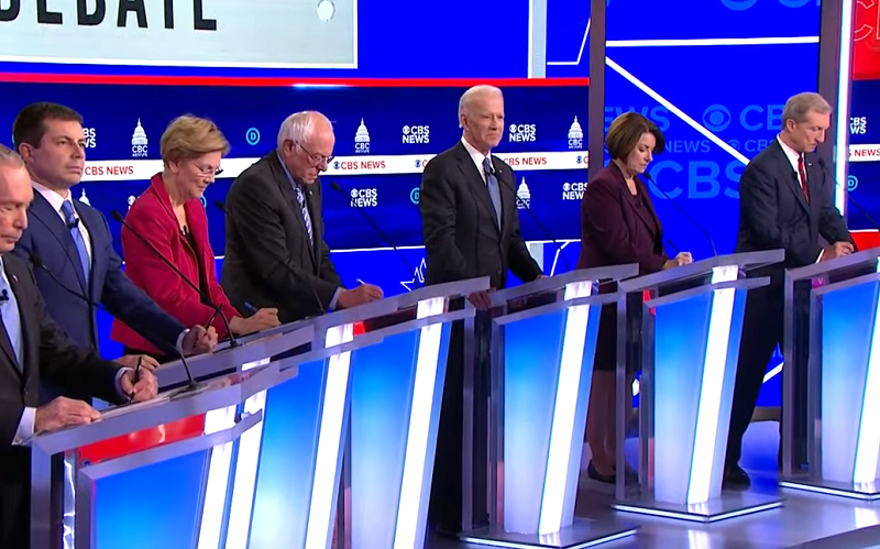 South Carolina Democratic Debate stage