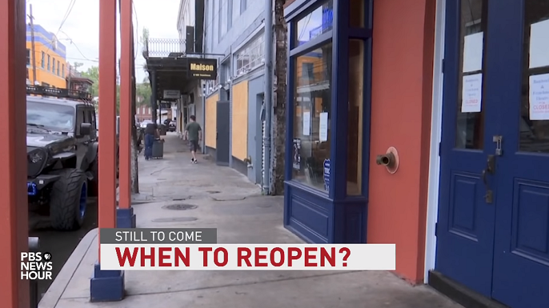 pbs news summary: when should america reopen?